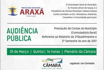 Convite: Audiência Pública para prestação de contas – Controladoria Geral