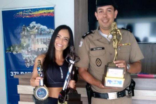 Policial Militar é campeã absoluta de fisiculturismo