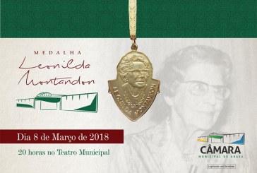 Câmara divulga homenageadas com a MedalhaLeonildaMontandon2018