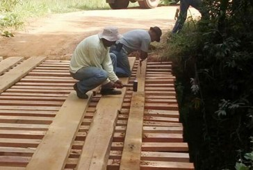 PMA realiza recuperação de pontes e estradas vicinais