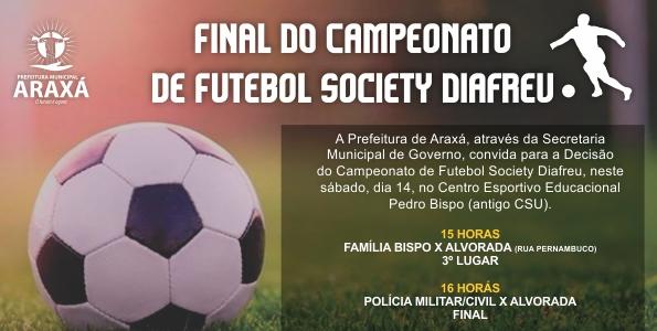 Convite: Final Campeonato de Futebol Society