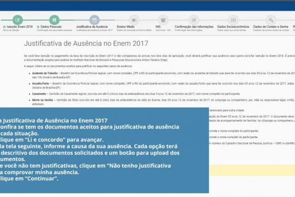 Saiba como pedir isenção da taxa de inscrição do Enem 2018 12