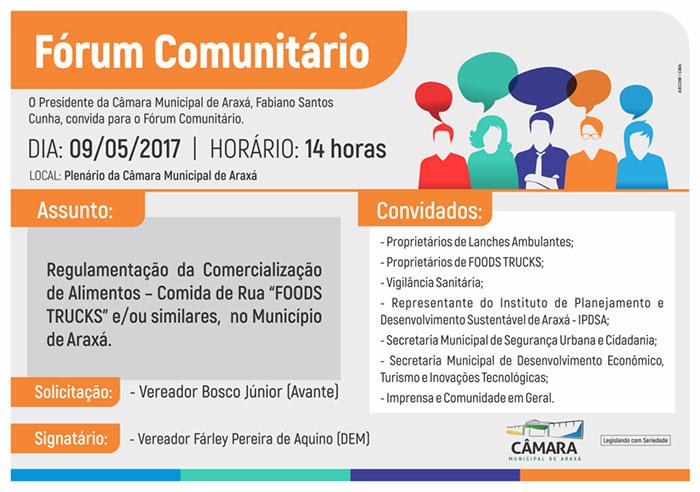 Convite: Fórum Comunitário