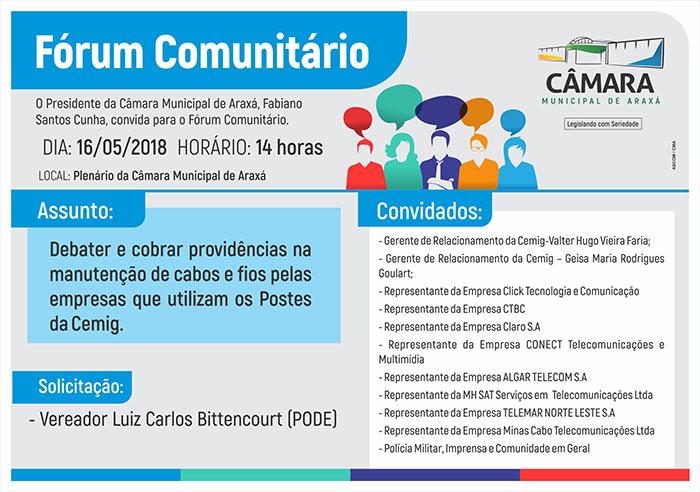 Convite: Fórum Comuniário