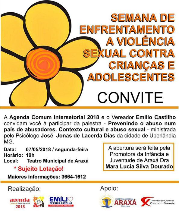 Semana de enfrentamento a violência sexual contra crianças e adolescentes