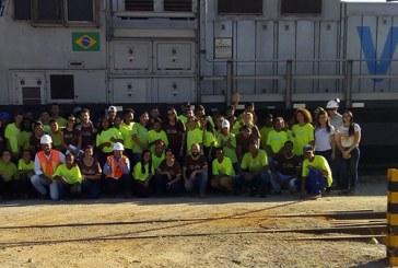 Jovens do Pequeno Jardineiro participam de ação para a revitalização de pátio ferroviário em Araxá