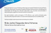 Convite: Entrega de UTIs móveis e carro adaptado do Canil Municipal