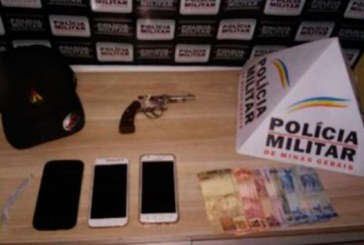 PM prende suspeitos de envolvimento com o tráfico e apreende arma de fogo no Centro