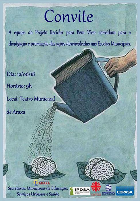 Convite: Projeto Reciclar para Bem Viver