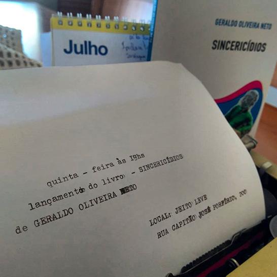 Geraldo Oliveira Neto lança livro
