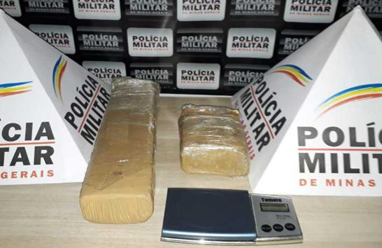 PM apreende mais de 1 quilo de maconha no Urciano Lemos