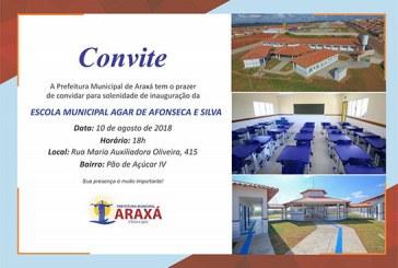 Convite: Inauguração Escola Municipal Agar de Afonseca e Silva