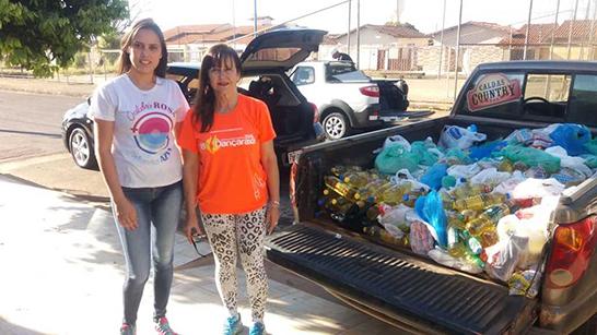 Dançaraxá faz doação de alimentos para instituíções da cidade 1