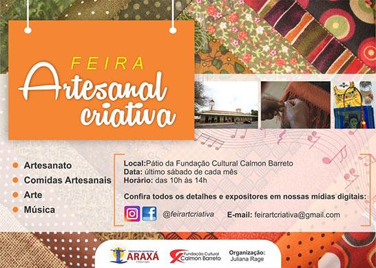 Araxá recebe Feira Artesanal Criativa neste sábado