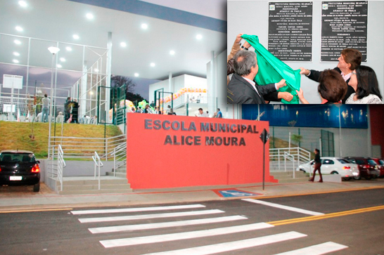 Sede definitiva da Escola Alice Moura é inaugurada com festa
