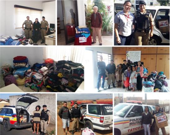 Campanha do Agasalho da Polícia Militar beneficia Recanto do Idoso e famílias