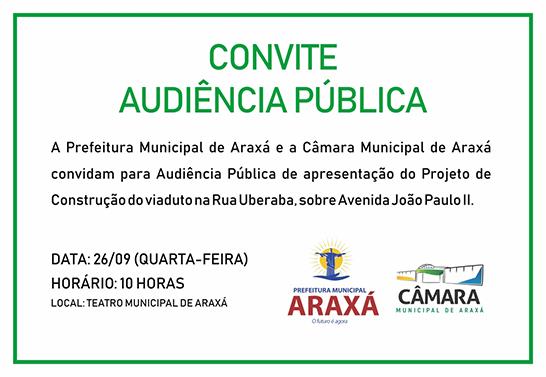 Convite: Audiências Públicas da Câmara Municipal 3