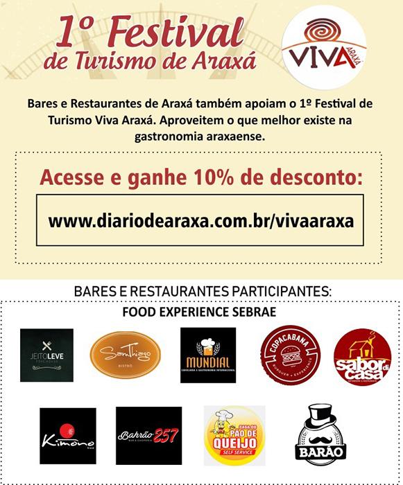 Prestigie o 1º Festival de Turismo Viva Araxá 2