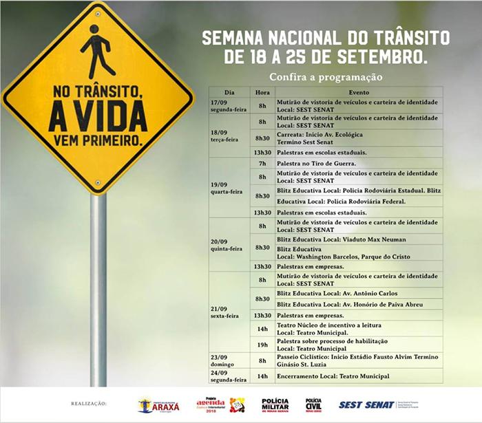 Atividades da Semana Nacional do Trânsito buscam conscientização e valorização da vida 1