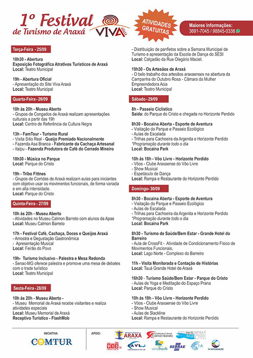 """1º Festival """"Viva Araxá"""" conta com programação diversificada 1"""