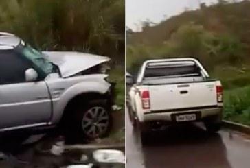 Vereadores de Araxá se envolvem em acidente na BR-262