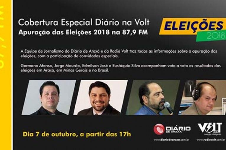 Cobertura especial da apuração do 1º turno em Araxá, com entrevistas de Romeu Zema, 1° colocado para governador, e deputado Bosco, reeleito para o 2° mandato