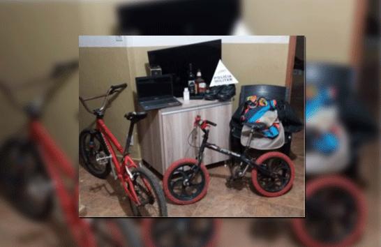PM apreende adolescente e recupera materiais furtados no Recanto do Bosque
