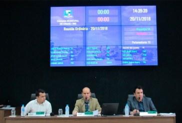 Destaques da reunião ordinária da Câmara Municipal de Araxá – 20/11/2018