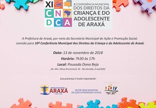Conferência vai discutir direitos de crianças e adolescentes com a comunidade