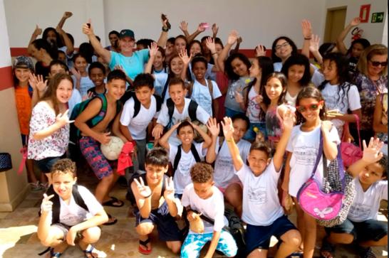 Estudantes da Escola Dona Gabriela participam de manhã esportiva no Centro Álvaro Maneira