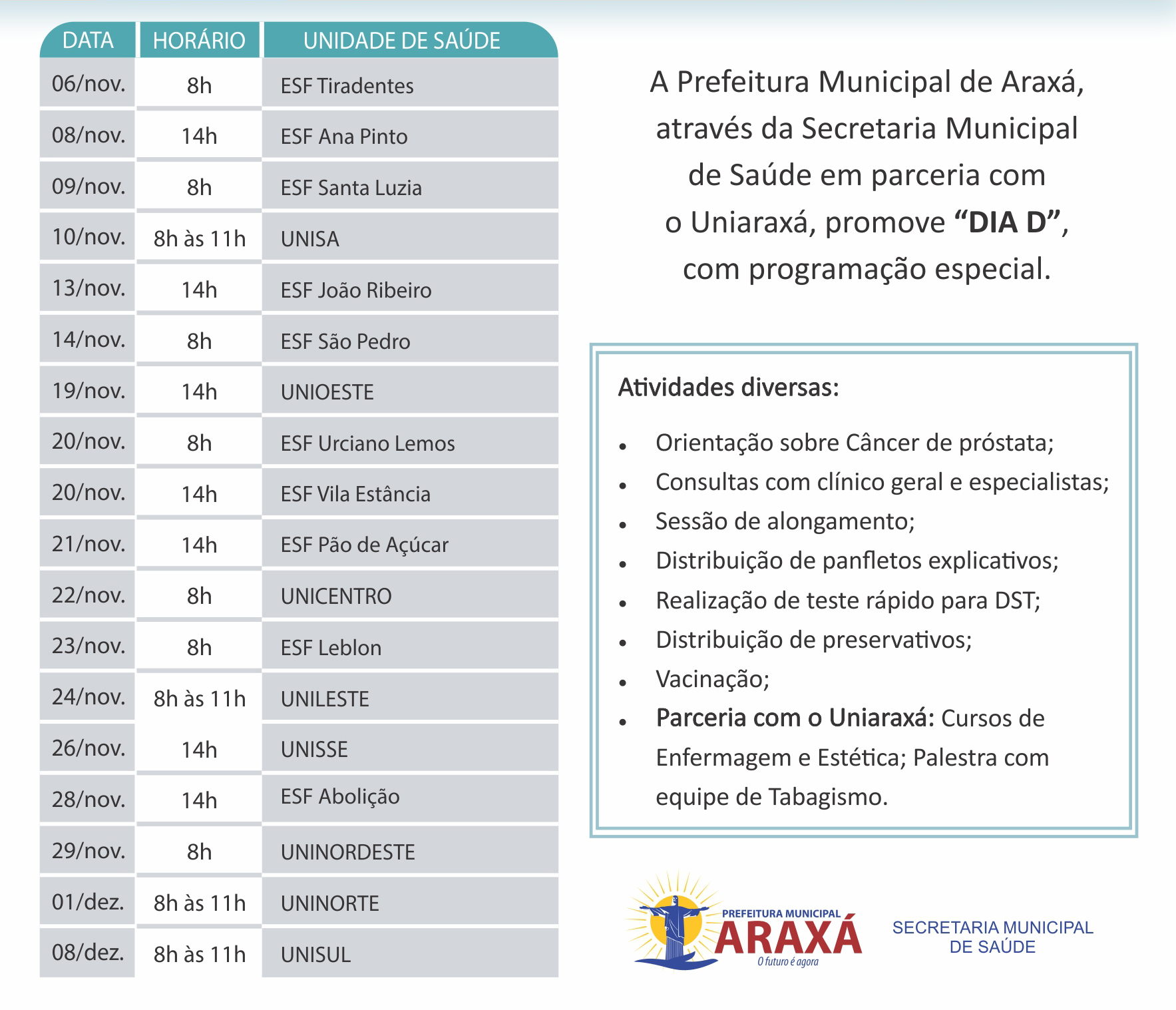 Araxá promove 'Novembro Azul' 3