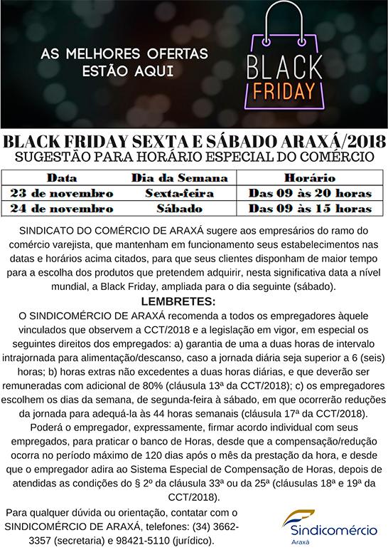 Comércio de Araxá funciona em horário especial durante a Black Friday 1