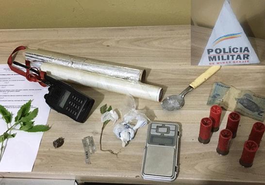 PM apreende droga e prende jovem no bairro Santa Mônica