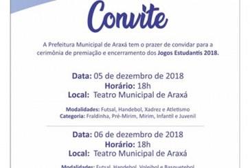 Convite: Premiação dos Jogos Estudantis 2018