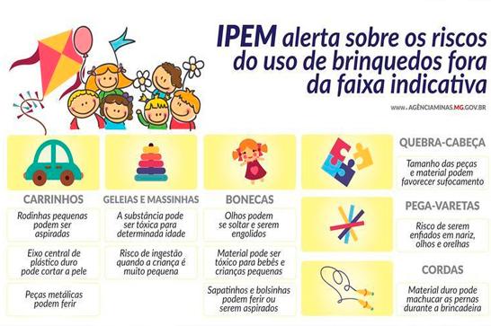 Ipem-MG alerta sobre os cuidados na hora de presentear as crianças com brinquedos