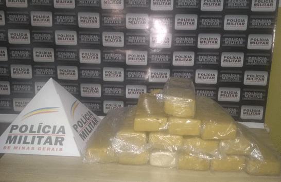 PM apreende grande quantidade de droga em Araxá