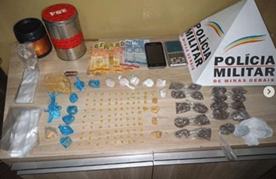 Casal é preso com drogas no bairro São Geraldo