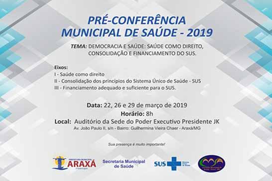 Pré - Conferência Municipal de Saúde conclama participação da sociedade