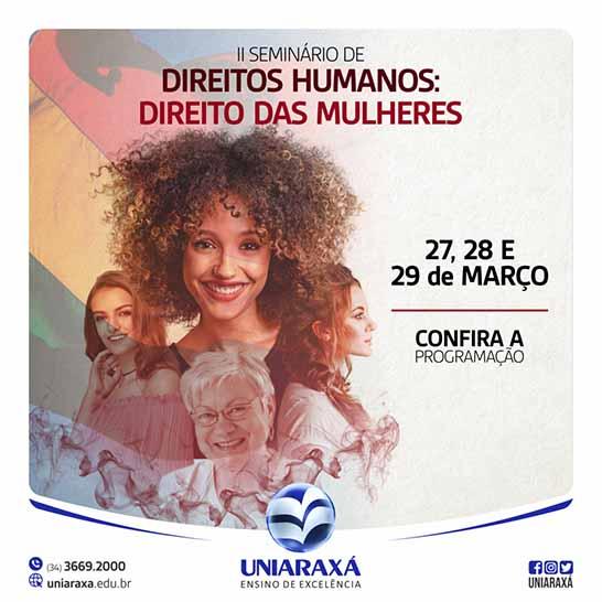 Confira a programação do II Seminário de Direitos Humanos