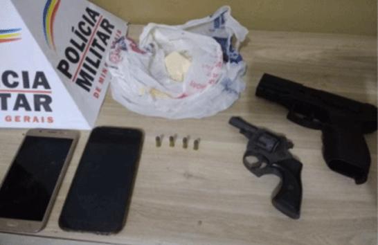 Autor de assalto é preso e PM ainda apreende arma e droga