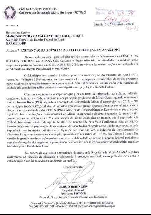 Prefeito busca permanência da agência da Receita Federal em Araxá 1