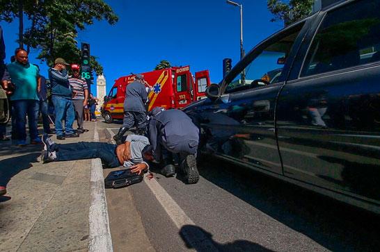 Prefeitura inicia Semana do Trânsito com simulação de acidente