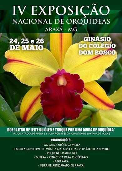 Araxá recebe 4ª Exposição Nacional de Orquídeas entre os dias 24 e 26