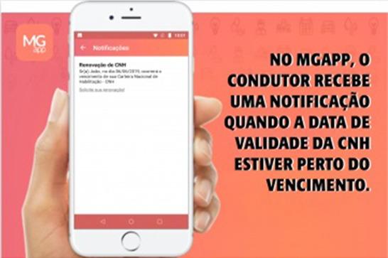 Nova funcionalidade do MG App avisa condutores sobre vencimento da CNH