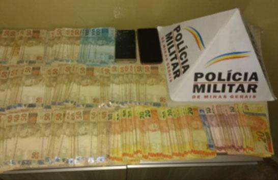 Suspeito de tráfico é preso com grande quantia de dinheiro