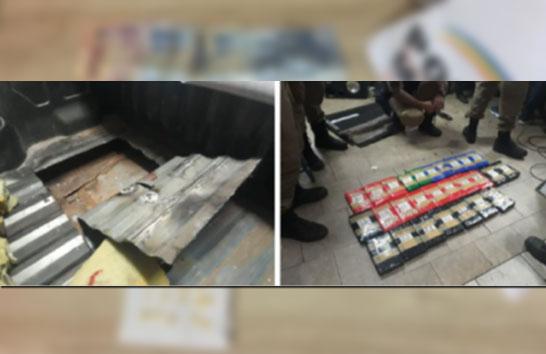 PM apreende tabletes de crack e cocaína avaliados em R$ 600 mil