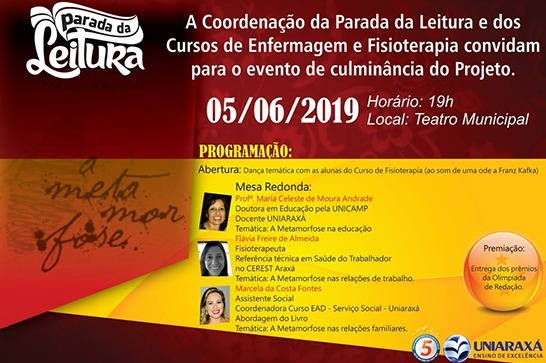 Uniaraxá promove Parada da Leitura no Teatro Municipal