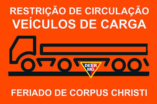 DEER restringe veículos de carga no feriado de Corpus Christi
