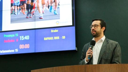 Raphael Rios apresenta projeto de lei de incentivo para atletas de baixa renda