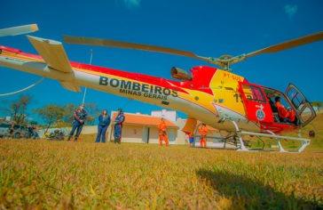 Helicóptero do SAMU já atende pacientes de Araxá